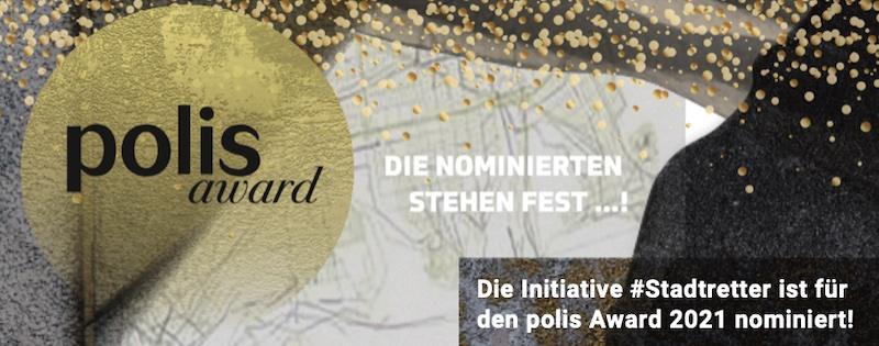 Die Initiative #Stadtretter ist für den polis Award 2021 nominiert